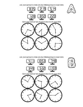 Spanish French (or even Kindergarten) - Clocks Time - Part