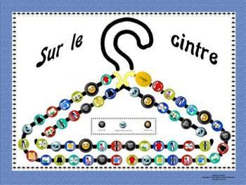 French Clothing-Les Vêtements Sur Le Cintre Game Board
