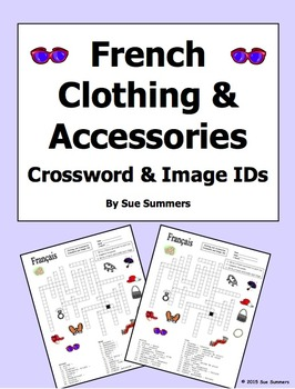 French Clothing and Accessories Crossword Puzzle, Image ID