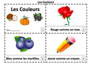 French Colors 2 Emergent Reader Booklets - Les Couleurs