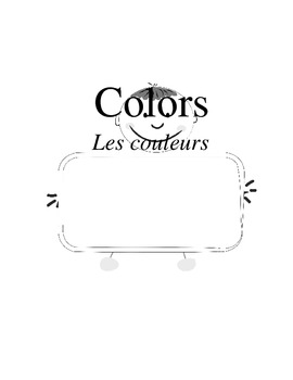 French Colors: Color and trace!