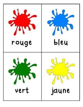 French Colour Word Flashcards