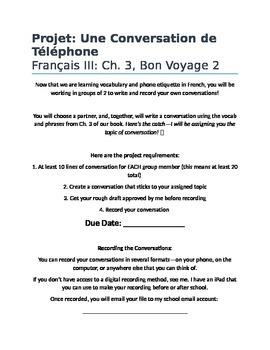 French Conversation Practice: Project, Bon Voyage Level 2,