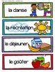 French Daily Schedule Cards - Set 2