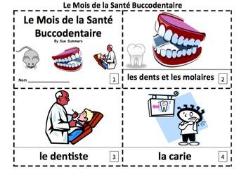 French Dental Health Month 2 Booklets - Mois de la Santé B