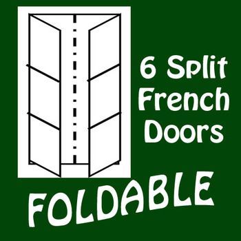 French Door 6 Panel Split Foldable Graphic Organizer - Ver
