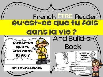 French ÊTRE & Professions Reader & Build-A-Book