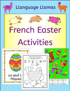 French Easter Vocabulary - Paques - Activities, Puzzles and Cards