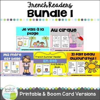 French Emergent Readers {Bundled Set 1} Dual language, imm