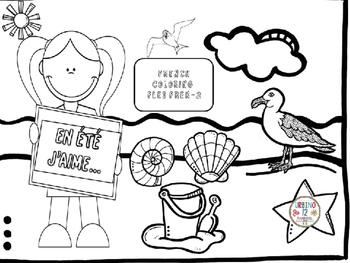 French: En Été Coloring Pages