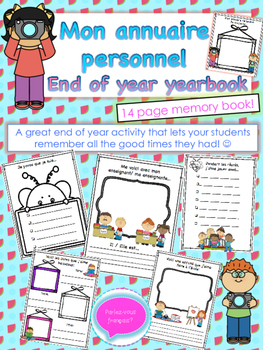 French End of Year Activity Booklet- Yearbook