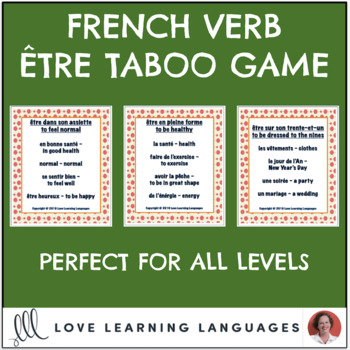French Être Expressions Taboo Game