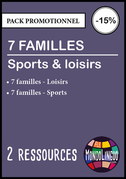 French/FFL/FSL - BUNDLE - 2 7 families - Hobbies and sport