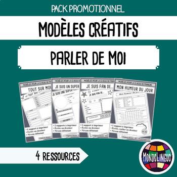 French/FFL/FSL - BUNDLE - 4 Modèles/printables - Sur moi/About me