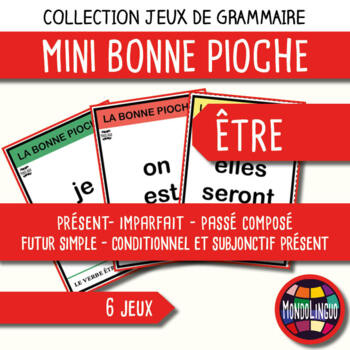 Card game to teach French/FFL/FSL: Bonne pioche - Etre/To be