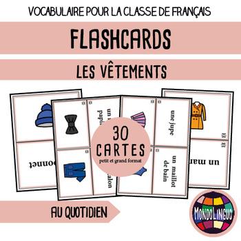 French/FFL/FSL - Flash Cards - Clothing