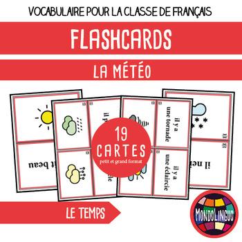 French/FFL/FSL - Flash Cards - Weather