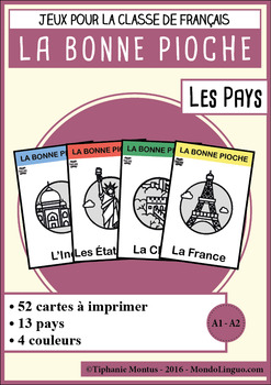 French/FFL/FSL - Games - Go Fish - Countries