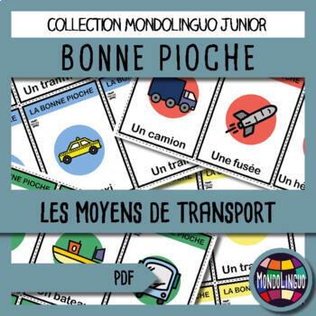 French/FFL/FSL - Games - Go Fish - Transportation