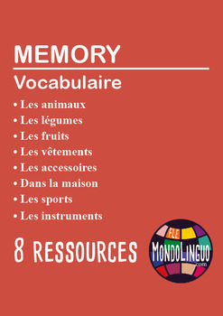 French/FFL/FSL - Games - Memory - Bundle 8 games