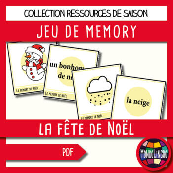 French/FFL/FSL - Games - Memory - Christmas