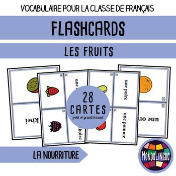 French/FFL/FSL - Games - Flash cards - Fruit