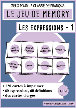 French/FFL/FSL - Games - Memory - Idiomatic expressions 1