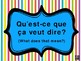 French FREEBIE Classroom Posters