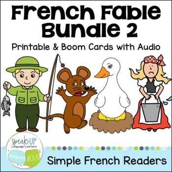 French Fable Readers {Bundle #2} & Sentence forming pages