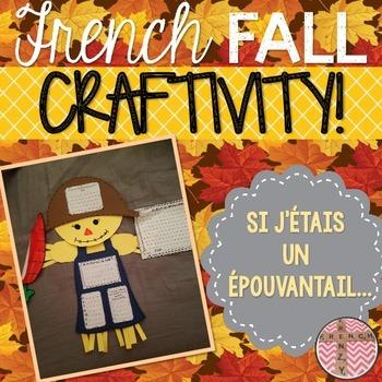 French Fall Activity - Scarecrow CRAFTIVITY (Activité pour