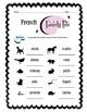 French Family Pets Worksheet Packet