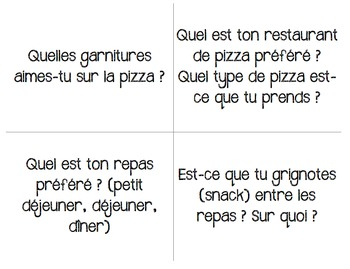 French Fast Food vs. Health Food activity bundle