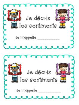 French Feelings Bundle- Les sentiments