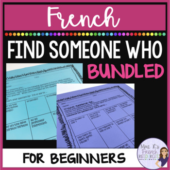 French Find Someone Who bundle of speaking activities
