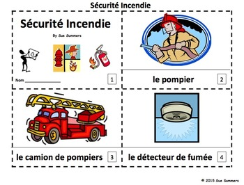 French Fire Safety 2 Emergent Reader Booklets - 12 Pages