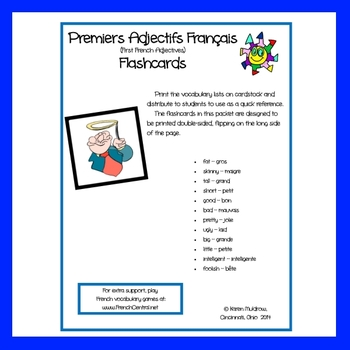 French - First Adjectives Flashcards