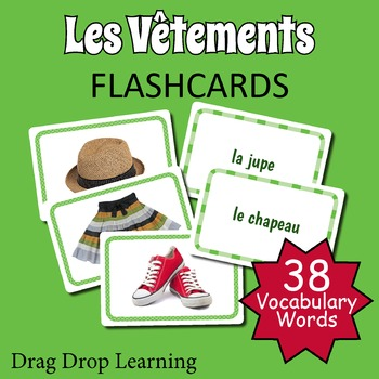 French Flashcards - Les Vêtements