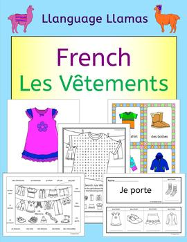 French Clothing Vocabulary - Les Vetements