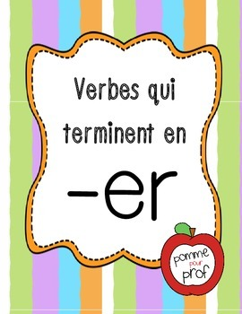 French Flashcards - Verbs Ending in ER
