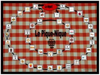 French Food – La Nourriture Gameboard Le Pique Nique
