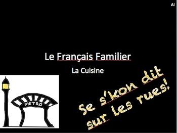 French Food Slang, Bon Voyage 2, Chapter 6