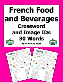 French Food and Beverages Crossword Puzzle, Image IDs, and