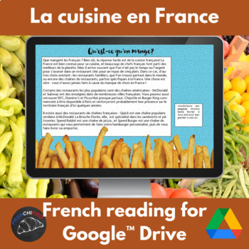 French Food and cooking activity book - Google drive edition
