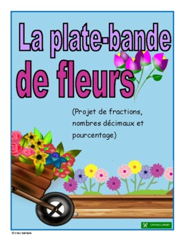 French Fractions, Decimal Numbers, and Percentage Flower B