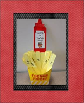 """French Fry Sight Word Practice - """"Catch Up"""" on your sight words!"""
