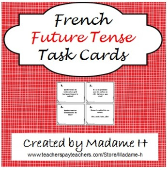 French Future Tense Task Cards