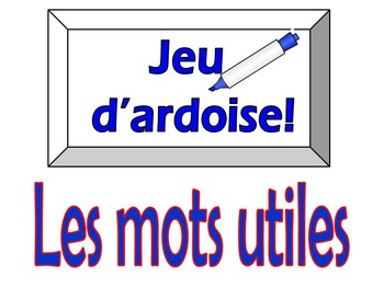 French Game - Jeu d'ardoise - ER Verbs and Adverbs - Disco