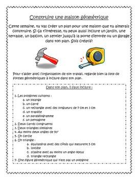 French Geometry Project - Build Your Own Home (La géométri