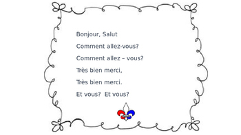 French Greeting Song