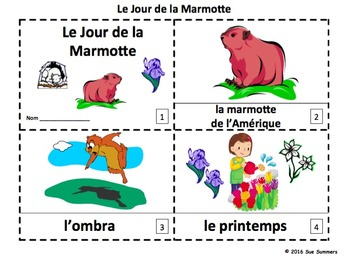 French Groundhog Day Booklets - Le Jour de  la Marmotte